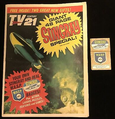 TV Century 21 TV21 Stingray Summer Holiday Special 1965 With Free Gift! Nr Mint
