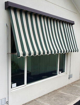 Outdoor Canvas window awning / shade / blind 280cm W x 210cm D *Free 20km GPO