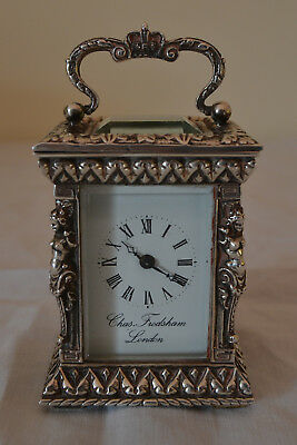 Silver Cased Carriage Clock by Chas Frodsham
