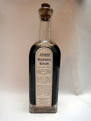 antique NORWOOD BLACKBERRY BALSAM smith kline french DIARRHOEA DYSENTERY BOWELS