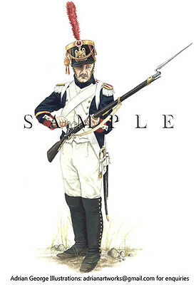 Napoleonic Print: France, NCO Fusilier Grenadiers of the Guard, 1809
