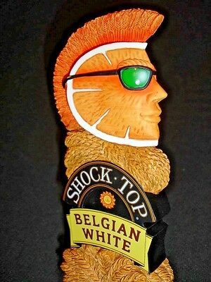 *NEW* SHOCK TOP - BELGIAN WHITE - BEER TAP HANDLE (New in the Box) Figural