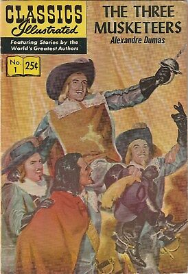 Classics Illustrated Number 1. Three Musketeers.  Gilberton. 1971.