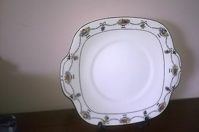 Crown Staffordshire  - Art Deco - Cake Plate - Fruit Bowls - Hand Painted - Vgc