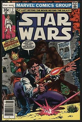 Star Wars #7  New Adventures Begin Han Solo Vf/nm 9.0 Glossy Ents Copy White Pgs