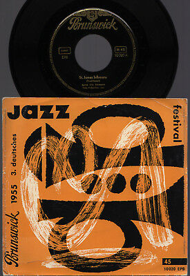♫ EP 1956 3. Deutsches Jazz Festival TWO BEAT Spree City RAR Brunswick 10020 NM♫