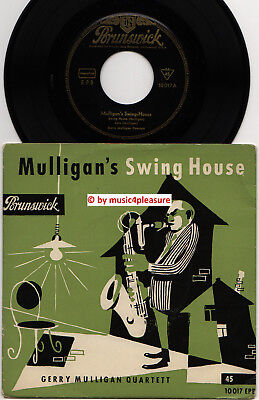 ♫ EP 1958 Gerry Mulligan Quartett CHET BAKER Swing House GER BRUNSWICK 10017 NM♫