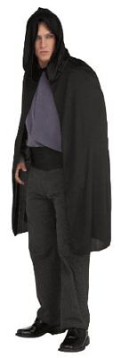 Rubies Costume Hooded Cape 3/4 Length Costume, Black, One Size