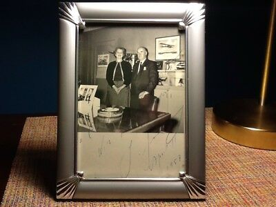 Igor Sikorsky Signed Autographed Photograph Aviation Helicopter Pioneer