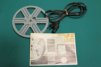Bolex super 8 projector 18-9 Duo ( manual -  power cord - reel )