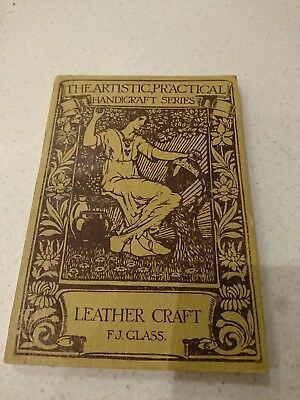 Arts and crafts Leathercraft book. Beautifully illustrated.
