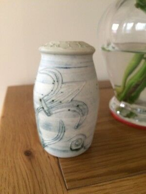 Unusual CARN POTTERY VASE/POT Penzance Cornwall studio floral/abstract