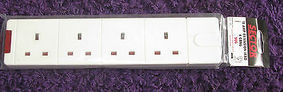 Sector - 13 Amp Extension Lead 4 Gang - New In Packaging.