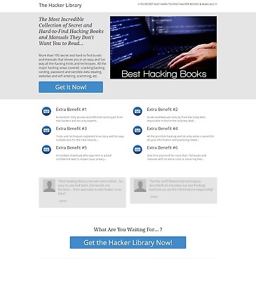 The Hacker Library + 100 Secret And Hard-To-Find Hacker Books & Manuals !!!