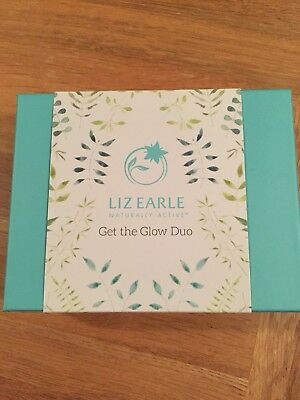BNIB Liz Earle Get The Glow Duo superskin face serum & cleanse and polish