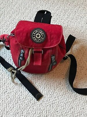 Kipling Camera Bag or Purse Mini Backpack Red EUC