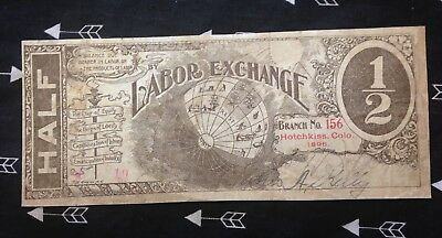 1896 Hochkiss , Colorado,  Labor exchange script  RARE !