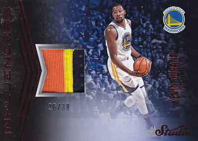 2016/17 Panini STUDIO INFLUENCERS PATCH #3 KEVIN DURANT 26/30 RARE 3colors