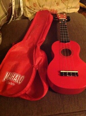 Red Ukulele Red with case