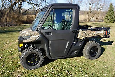 2017 Can-Am Defender 800 W/ Factory Cab And Heat Brand New 7 Miles Loaded Camo
