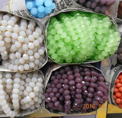 4MM 145 piece/lot crystal beads Cut Faceted Round Glass Beads