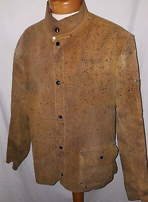 RADNOR 100% LEATHER Size XL Front Snap Welding Jacket Protective Coat