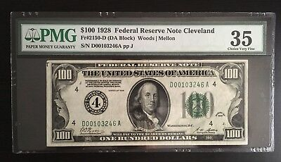 1928 $100 Federal Reserve Note - PMG Certified