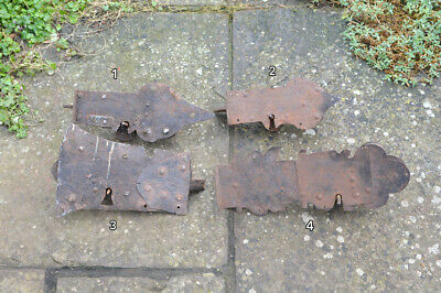 antique lock medieval door lock old iron vintage church locks x4  - FREE POSTAGE