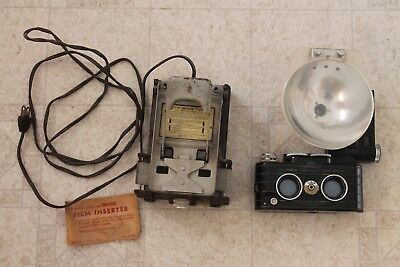 View Master Personal Stereo Camera with flash viewmaster film cutter vintage