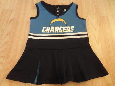 Infant/Baby Girls Los Angeles Chargers 12 Mo Cheerleader Cheer Outfit Dress NFL