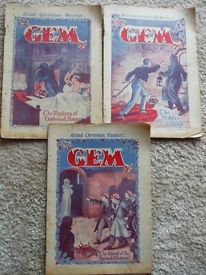 The Gem (Bunter Interest) - 3 Christmas Issues 1936 and 1937