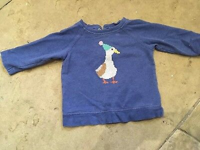 Baby Boden Christmas/winter Duck Jumper Age 6-12 Months