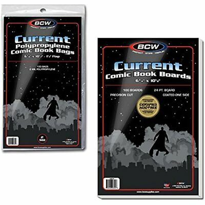 100 Card Sleeves Current Comic Book Bags And Boards