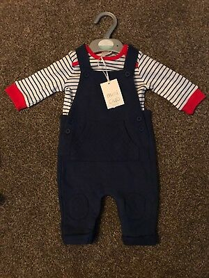 Brand New 0-3 Month Baby Dungarees Set Mini Club With Tags