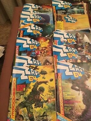 Commodore 64 ZZAP! 41 X Magazine Issues 1985 - 1989 Bundle Lot Birmingham