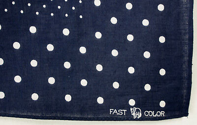 Vintage NWOT Elephant Trunk Down-Navy with Polka Dots !! Fast Color Never Used