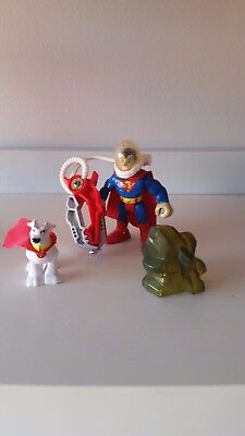 Fisher price imaginext D C Superfriends - Superman with Kryptonite
