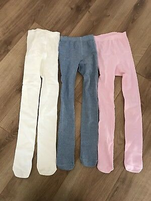 Bundle Of 3 Pairs Plain Tights Age 7-8
