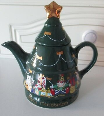 Wade Christmas Teapot ~ Green