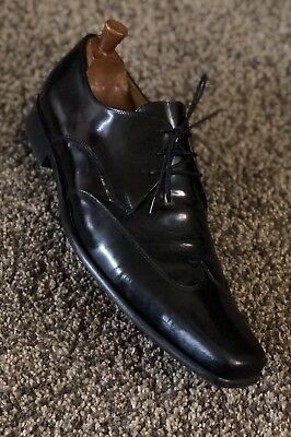 ~Paul Smith~Mens Wing Tip Black Leather Shoes Made In Italy Uk11