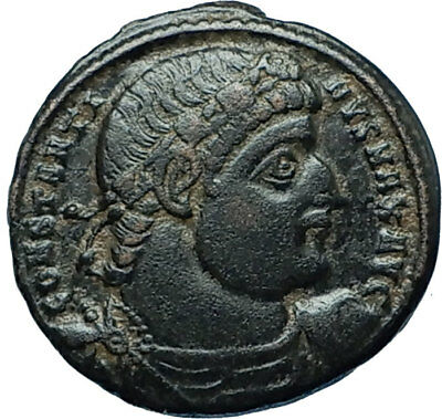 CONSTANTINE I the GREAT 330AD Authentic Ancient Roman Coin w SOLDIERS i66021