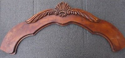 "LARGE ARCHED PEDIMENT w/ CARVED CREST  41"" wide"
