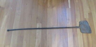 "Hand Forged Open Hearth Iron Spatula 1800's Extra Long Primitive 46"" Antique BL2"
