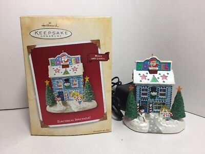 "2004 Hallmark Keepsake Ornament ""Electrical Spectacle!"" Music & Lights, W/Box"