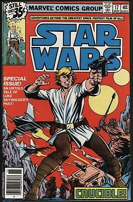 STAR WARS #17 VF+ 8.5 WHITE PAGES NEW STORIES OF HAN, LUKE & LEIA POST 1st FILM