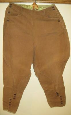 Vintage Antique Jodphurs Riding Breeches Pants Equestrian Side Button