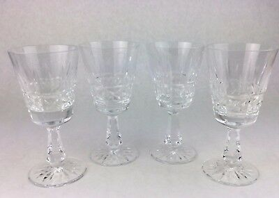 4 WATERFORD Cut Crystal Stems