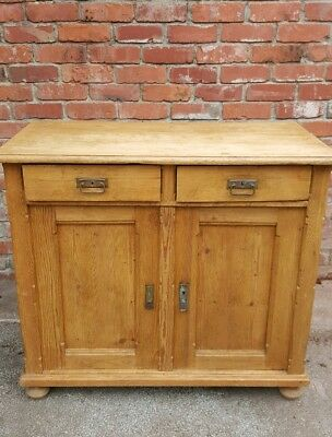 Antique Pine Cupboard/dresser/sideboard Great Quality Natural Wood, Very Sturdy