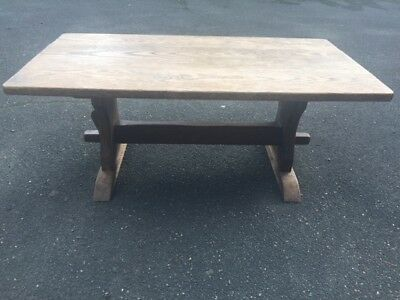 Solid Oak Antique Reproduction Old Farmhouse style coffee table