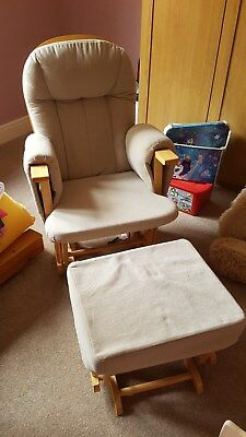 Maternity Glider Chair and Stool